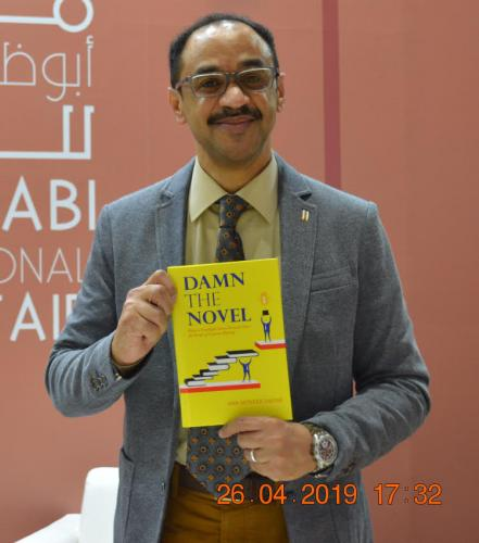 DAMN-THE-NOVEL-Before-Book-Signing-Abu-Dhabi-International-Book-Fair